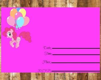 Digital My Little Pony Birthday Invitation~ My Little Pony Birthday Invitation~My Little Pony Birthday Invitation~Pinkie Pie Invitation~