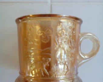 Carnival Glass Mug - Little Bo Peep