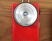 VARTA TORCH FLASHLIGHT. A vintage retro pocket battery lamp from the 60s/70s, ideal for walking, camping, outdoor and Retro home decor