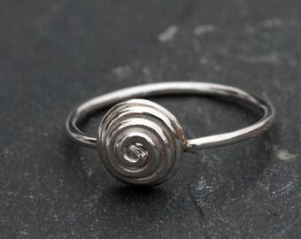 Silver Spiral Stacking Ring