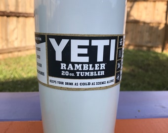 Yeti White Powder Coated 20oz