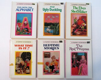 Pick Your Book: A Puppet Storybook 1960s 1970s Hardcover Books Pictures by T. Izawa and S. Hijikata Grosset & Dunlap Great Nursery Decor