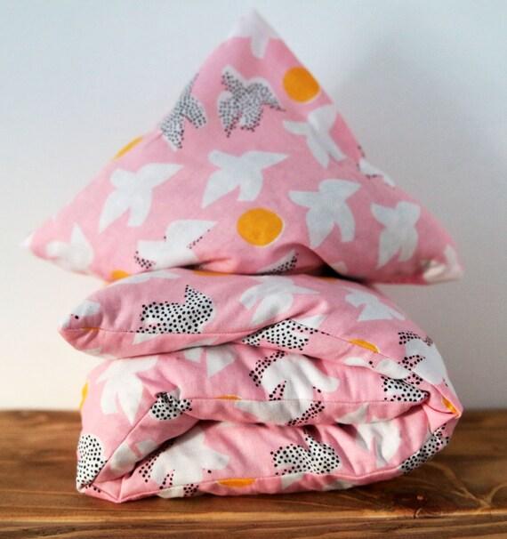 "Cherry Stone Pillow ""Flock Pink"""