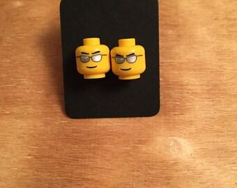 Lego Head Stud Earrings
