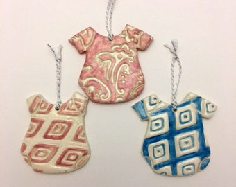 Baby Onesie Ceramic Ornaments
