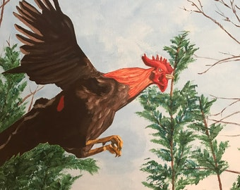 Freedom Rooster, Color Rooster, Animal, kitchen or Home Decor