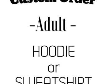 Adult Hoodie // Sweatshirt // Eco Friendly