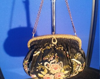 1938-1940's Chinese Forbidden Stitch Shoulde Bag