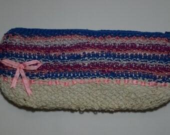 Colorful cute handbag, handmade purse, stylish knitted handbag