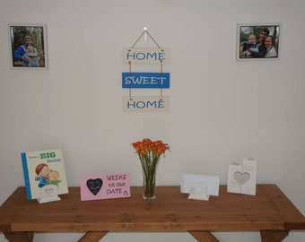 Home Sweet Home Sign - Home Decor - Wall Hanging - New Home - Handmade