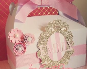 Princess Party Favors Boxes / Paper flower