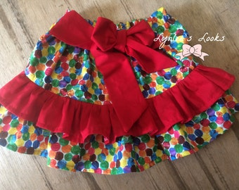 The very hungry caterpillar birthday outfit skirt