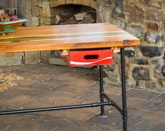 Reclaimed Wood Desk, Industrial Desk, Office Furniture, Industrial Office  Furniture, Rustic Industrial