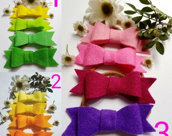 Felt Bow Headbands - Pack of 4