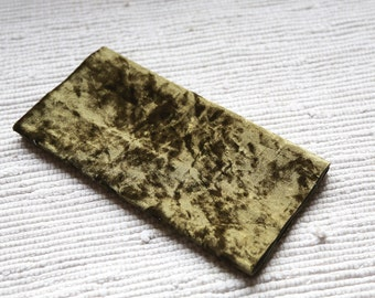 Olive colour vintage plush on cotton base