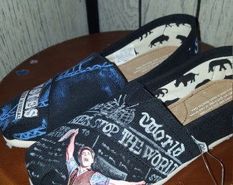 SALE Custom Painted Newsies Inspired TOMS