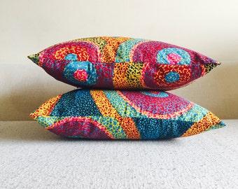 Ankara Super Sun Throw Pillow Covers // African Print // Mix & Match // Home Decor // 18 x 18