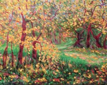 Thicket-oil painting, unique impressionist style