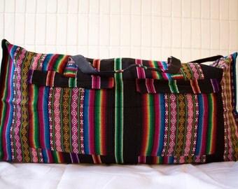 Handmade Bolivian Duffel Style Bag (Medium)