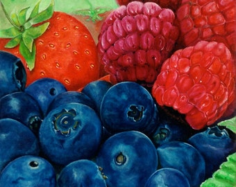 Berries, fruits of the forest, harvest time, summer