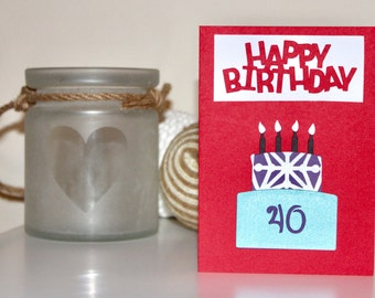 Birthday cake card (your choice of number)