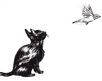 The Cat and the Canary Print