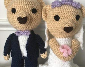 Crochet wedding bears, amigurumi