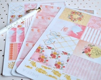 Garden PartyWeekly Sticker Kit | MAMBI Happy Planner | Vertical Planner | Individual Sheets