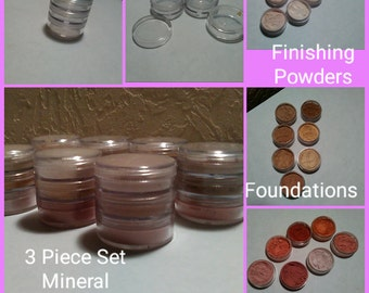 Mineral Makeup/Finishing Powder/Foundation/Blush/20 Gram Stackable Jars/Vegan/Cruelty Free