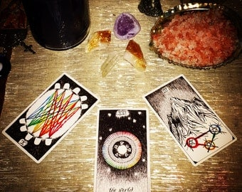 Email Three Card Tarot Reading / Intuitive Wild Unknown Tarot Reading