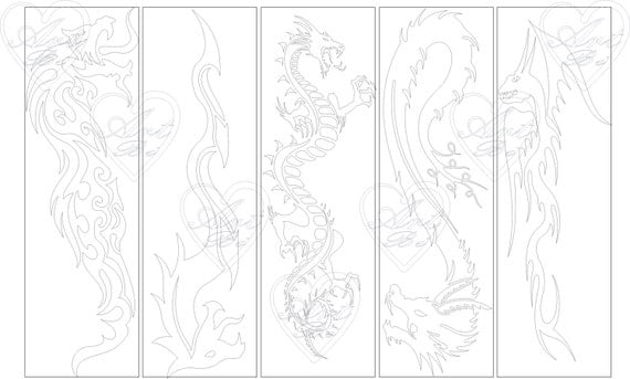 Bookmark Dragon Bookmark Instant Download Birthday