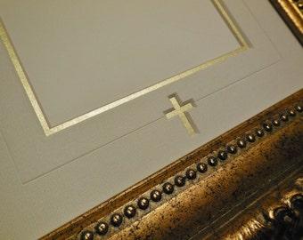 Gold Cross Wedding Mat