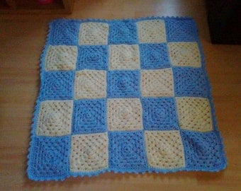 Custom made hand crochet patchwork baby blankets