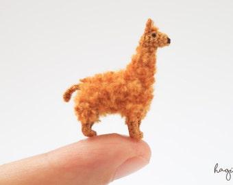 Miniature crochet Llama - Micro Amigurumi