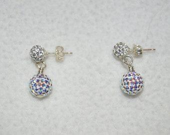 Swarovski Crystal Pave Bead Earrings