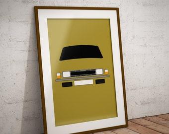 Personalised Austin Allegro Print