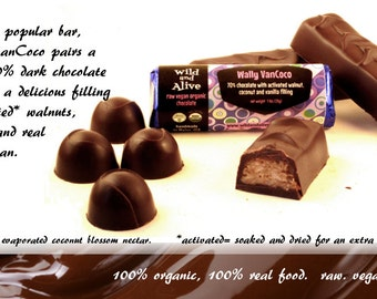 Wild and Alive raw vegan organic chocolate with fiendishly delectable sprouted nut fillings | Wally VanCoco