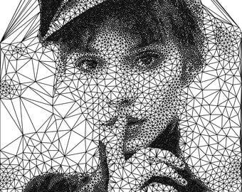 Custom generative triangulation portrait from photo | custom gift | anniversary gift | valentines day gift