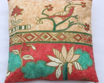 "Bird pattern cushion cover  18x18"" (45x45cm)"