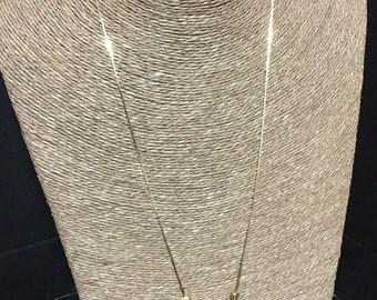 Heart bead slider necklace