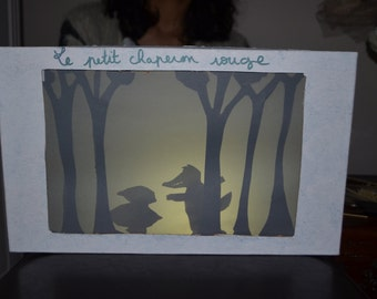 Shadow play little Red Riding Hood