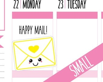 Happy Mail Stickers, Planner Stickers, Delivery Stickers, Post, Mail Stickers, Kawaii, Mini, Happy Planner Stickers, Erin Condren Stickers