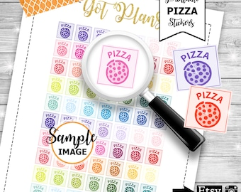 Pizza Planner Stickers, Functional Planner Stickers, Printable Stickers, Pizza Stickers, Item Planner Stickers, Planner Decor