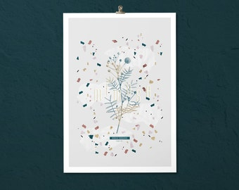 Botanical poster. Mimosa #PLANT - 1;  Botanical & graphic print in a limited edition