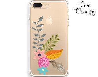iPhone 7 Case Clear with Design iPhone 7 Plus Case Floral iPhone 6 Case Flowers iPhone 6s Case Watercolor iPhone 6 Plus Case iPhone 5s Case