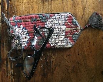 Glasses Case Block Printed Fabric