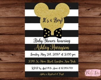 Mickey Mouse Baby Shower Invitations - Its a boy Invitation - Mickey Mouse Baby Shower, Baby Shower Invitations, Baby Shower Invites.