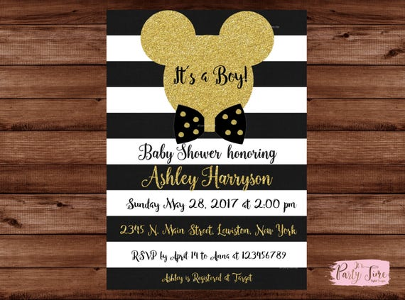 mickey mouse baby shower invitations its a boy invitation mickey mouse baby shower
