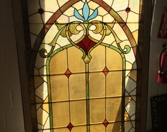 Victorian original stained glass window