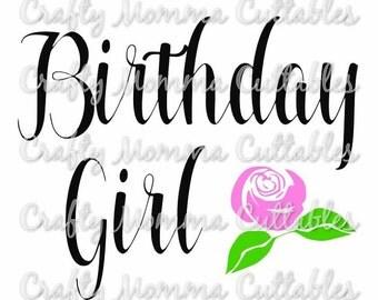 Birthday Girl file // Birthday Diva Svg // First birthday Cut File / Birthday Princess Silhouette File // Cutting File // SVG file